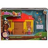 Masha y el Oso- Masha´s House Playset, Color amarillo/rojo (Simba 9301633) , color/modelo surtido