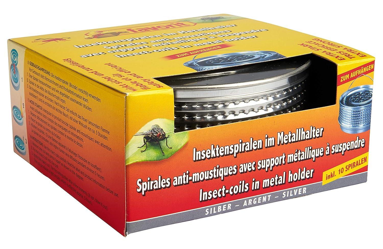 Alschuh 1288S - Supporto a Spirale per Insetti, in Metallo, Colore: Argento Favorit
