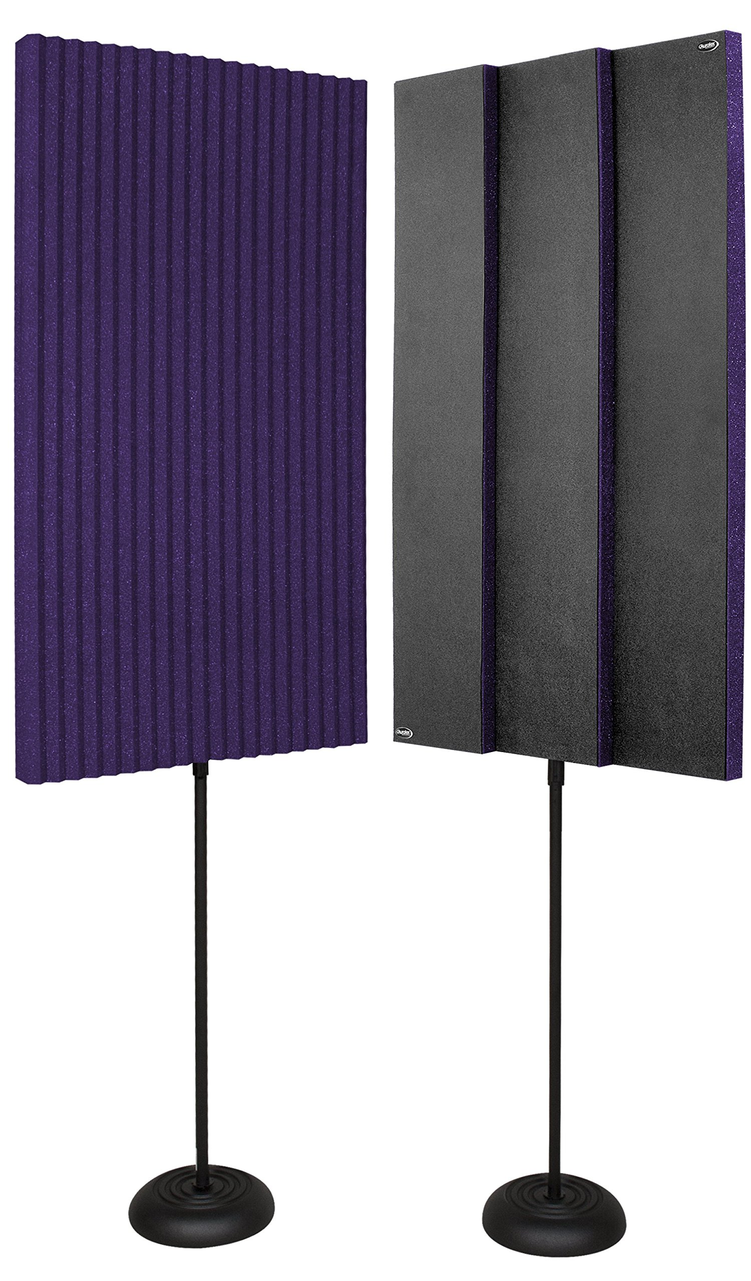 Auralex Acoustics Portable Acoustic Treatment Panels for Podcasting, Voiceovers, Video Blogging and Educational, Purple 2x4 Adjustable Stand (PROMAX_V2PUR