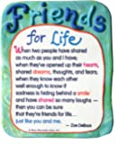 Blue Mountain Arts Friends for Life by Zoe Dellous Sculpted Resin Magnet (MR932)