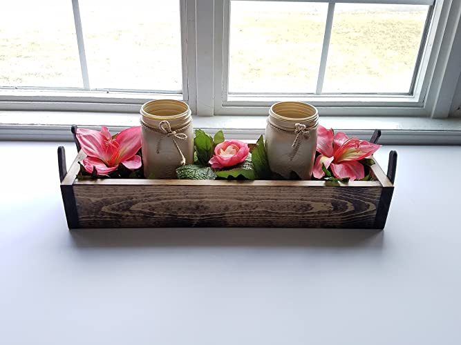 Rustic Reclaimed Wood Centerpiece Box Horseshoes Planter Wedding