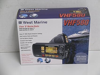 Amazon com: West Marine VHF580 Class D Marine Radio: Sports & Outdoors