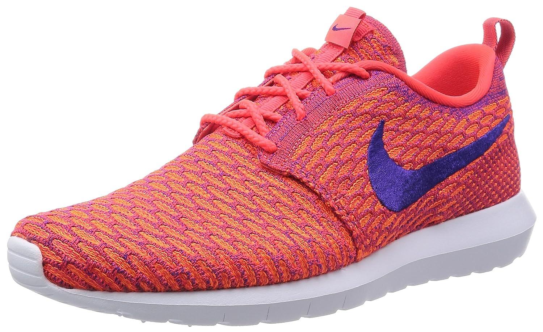 Nike Flyknit Rosherun, Herren Low-Top Sneaker  42 EU|Rot (Brght Crmsn/Crt Prpl/Ttl Orng)