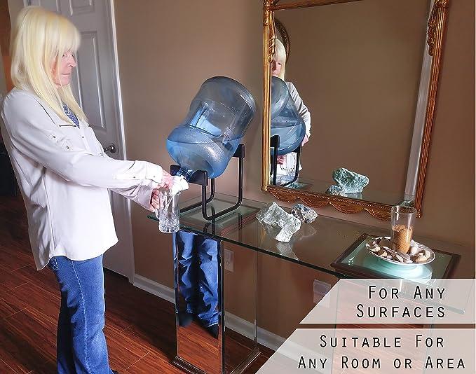 Botella de agua de 5 galones Dispensador Soporte de acero inoxidable reutilizable sin BPA Válvula 55 mm corona soporte no fugas 60 días 100%: Amazon.es: ...