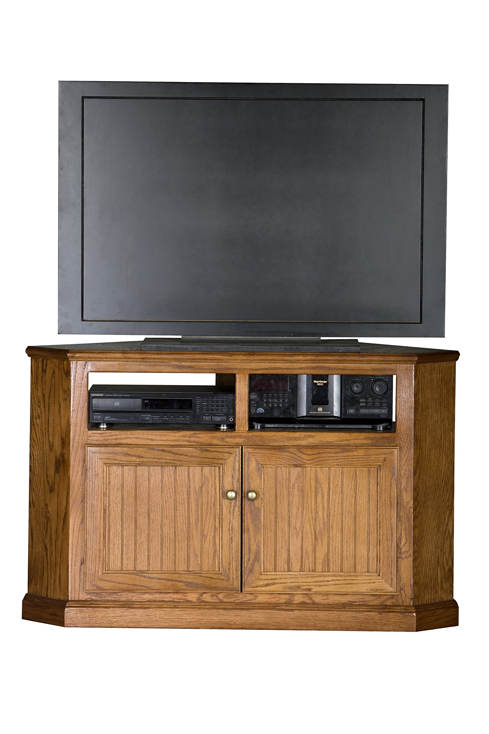 Eagle 47739PLCR Heritage Corner TV Cart, 50'' Tall, Caribbean Rum Finish by Eagle