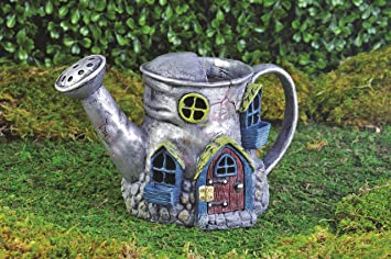 Georgetown Home And Garden Fiddlehead Fairy Village Old Watering Can Home,  5.5u0026quot;
