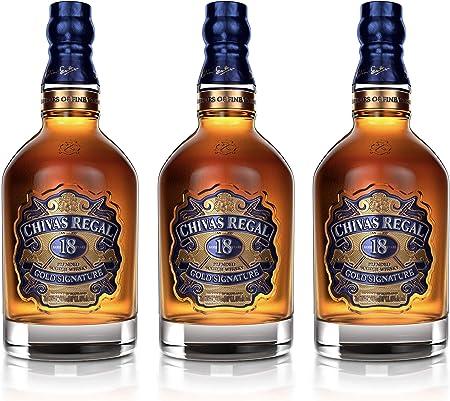 Chivas Regal 18 años Blended Scotch Whisky 3er Set, Whiskey, Schnaps, Spirituose, Alcohol, Botella, 40%, 3 x 700 ml