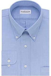 1a4a46fd78a Van Heusen Men s Dress Shirt Regular Fit Oxford Solid at Amazon ...