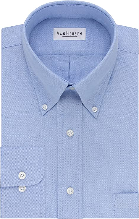 Van Heusen Men's Dress Shirt Regular Fit Oxford Solid
