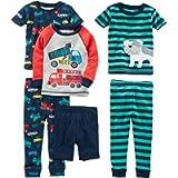 Simple Joys by Carter's Baby-Boys 6-Piece Snug Fit Cotton Pajama Set