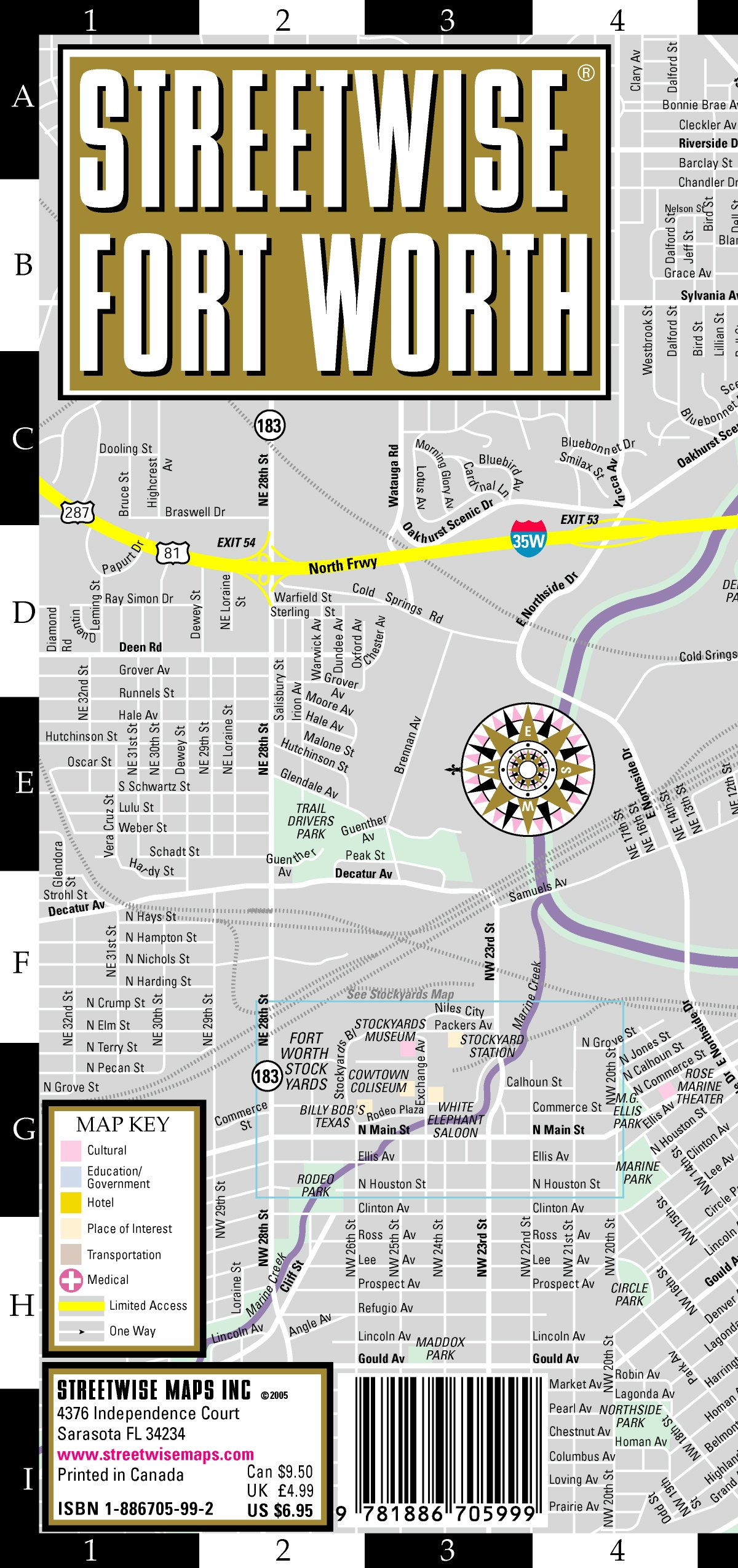 Download Streetwise Fort Worth Map - Laminated City Center Street Map of Fort Worth, Texas - Folding pocket size travel map with Trinity Expess routes pdf