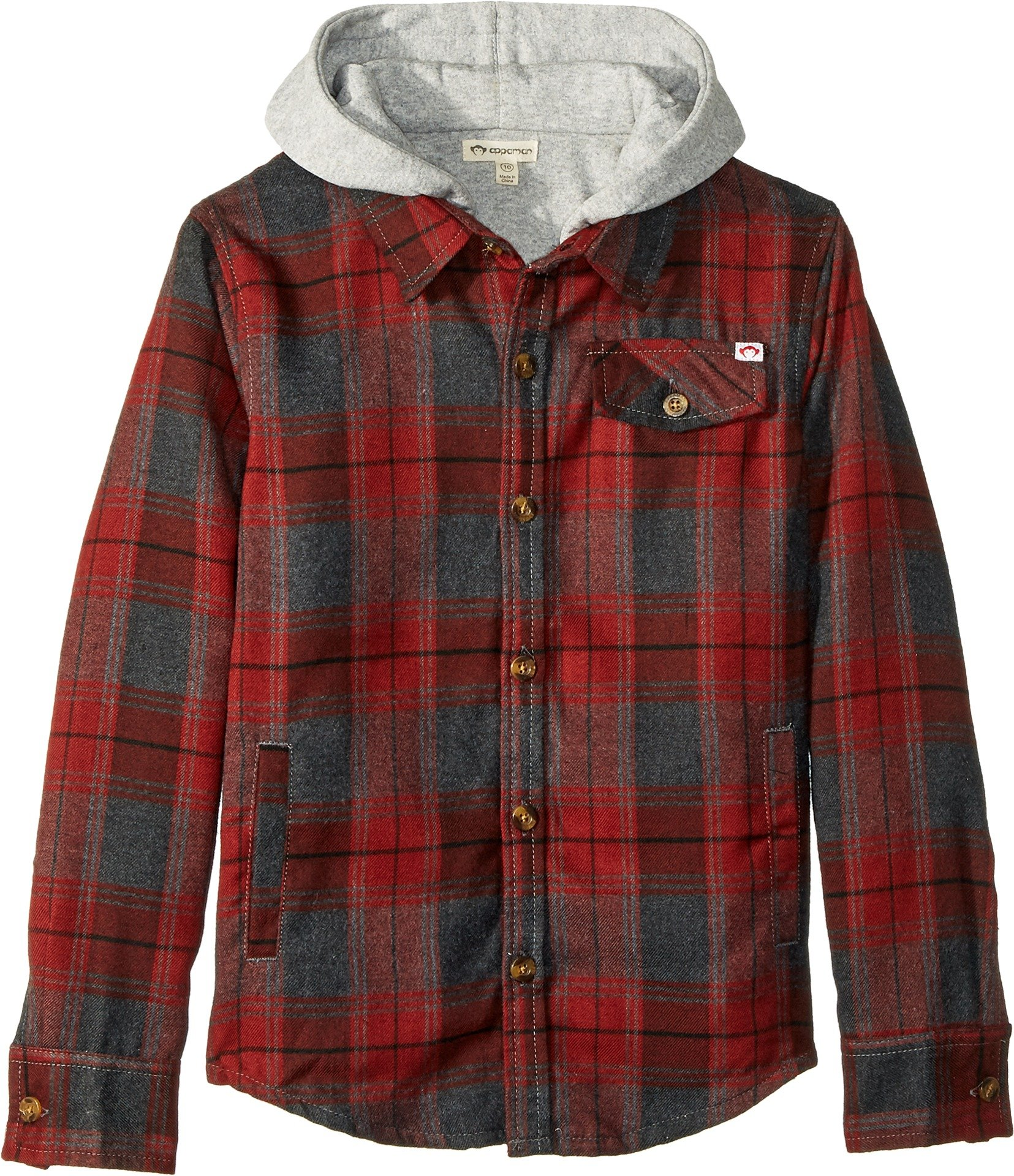 Appaman Kids  Baby Boy's Glen Flannel Hooded Jacket (Toddler/Little Kids/Big Kids) Sidewalk Plaid 4 US Toddler