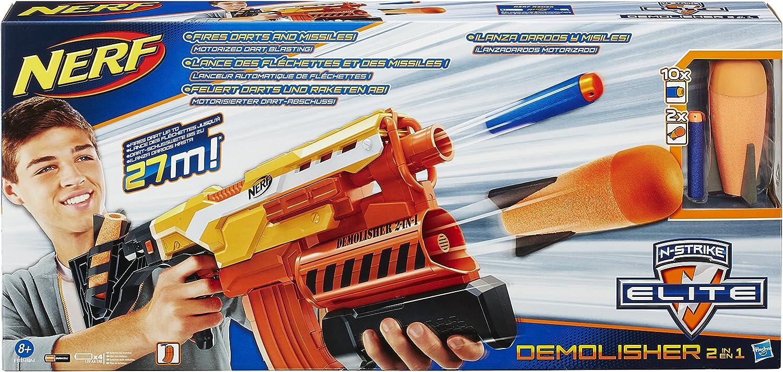 Fortnite Demolisher Support Amazon Com Nerf Elite 2 In 1 Demolisher Toys Games
