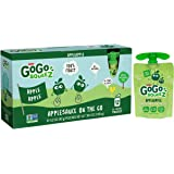 GoGo squeeZ Applesauce, Apple Apple, 72 Pouches (6 Boxes with 12 Pouches Each)