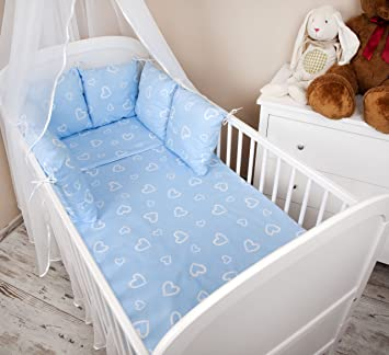 Baby Cots Uk Baby cot bumper bed border 210 cm design hearts blue cot bumper baby cot bumper bed border 210 cm design hearts blue cot bumper sisterspd