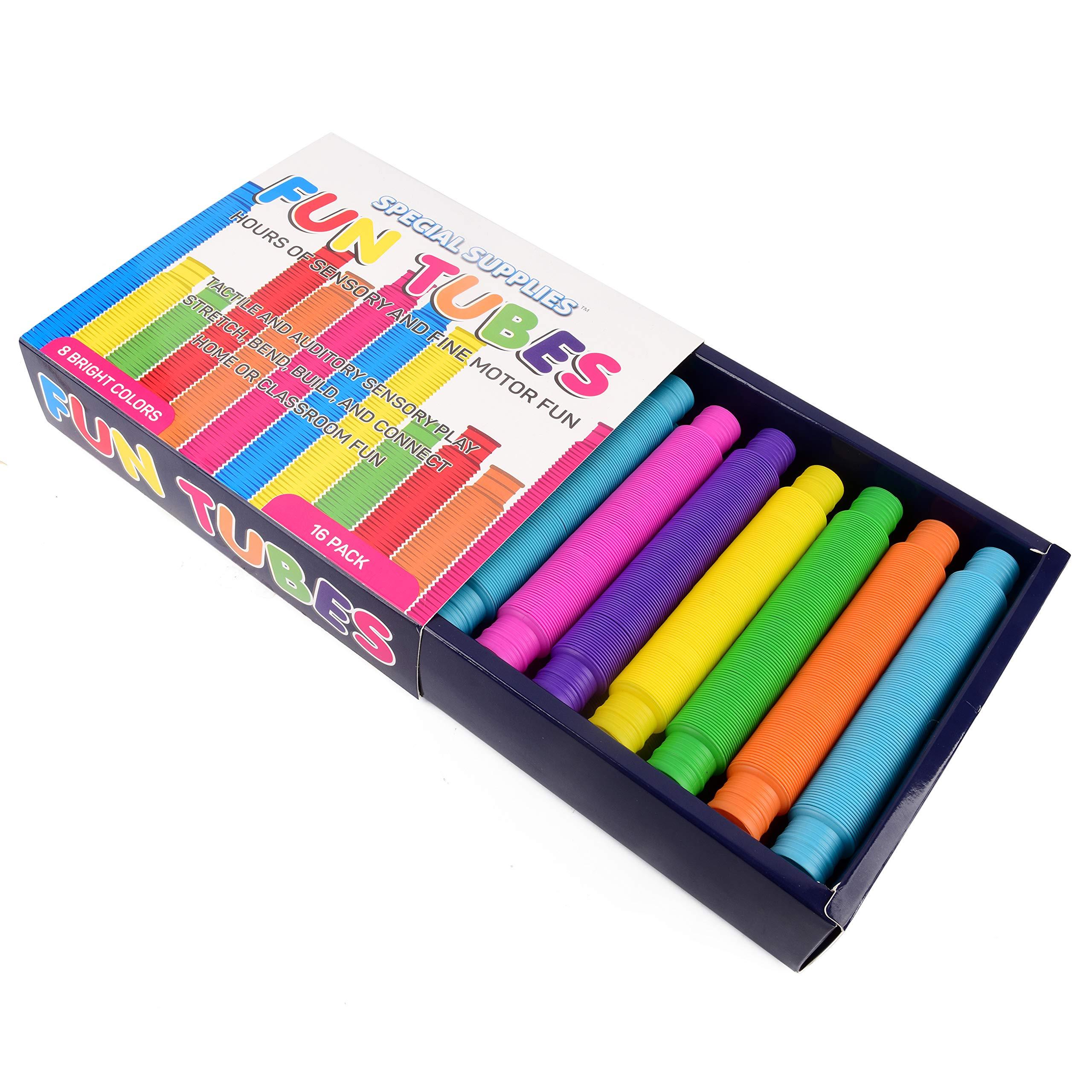 6 Pack Pop Tubes Sensory Toy Multi Color Stretch Pipe Toys For Kids Str Children