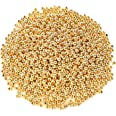 1200Pcs 4mm Smooth Round Beads Gold Spacer Loose Ball Beads for Bracelet Jewelry Making Craft