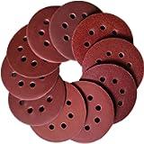 Aewio 100 Pcs 5 inch 8 Holes Sanding Discs #60 - #1200 (60 80 120 180 240 320 400 600 800 1200 Each Grit 10 Pcs) for…