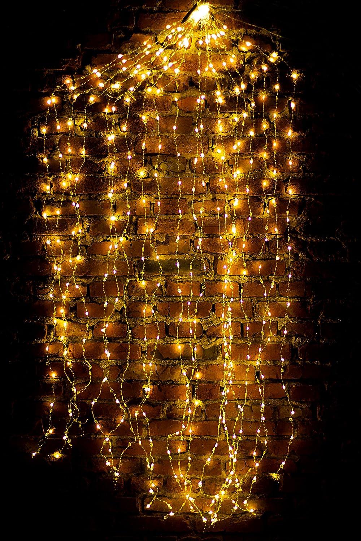 Led Lichterbündel 1M/2M Silberdraht Mirco Lichterkette Strombetrieb Deko für Innen und Außen Warmweiß gresonic (Warmweiß, 100 Mikro Led) [Energieklasse A+]