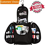42 Travel Hanging Toiletry Bag – Large Kit Organizer for Men & Women – Spacious & Compact, 17 Compartments for all you need - Strong Zippers, Sturdy Hook, Water Resistant