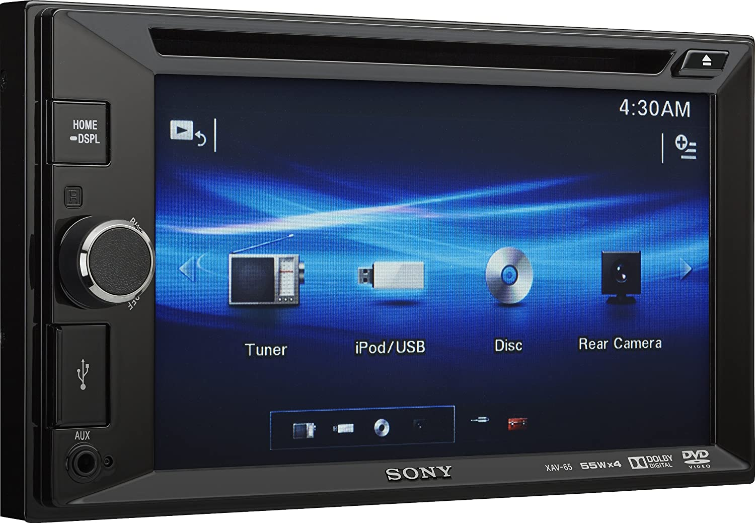 Sony Xav65 Video Receiver With Double Din 62 Inch Wvga Xav Wiring Harness Diagram Touch Screen Display Discontinued By Manufacturer Car Electronics