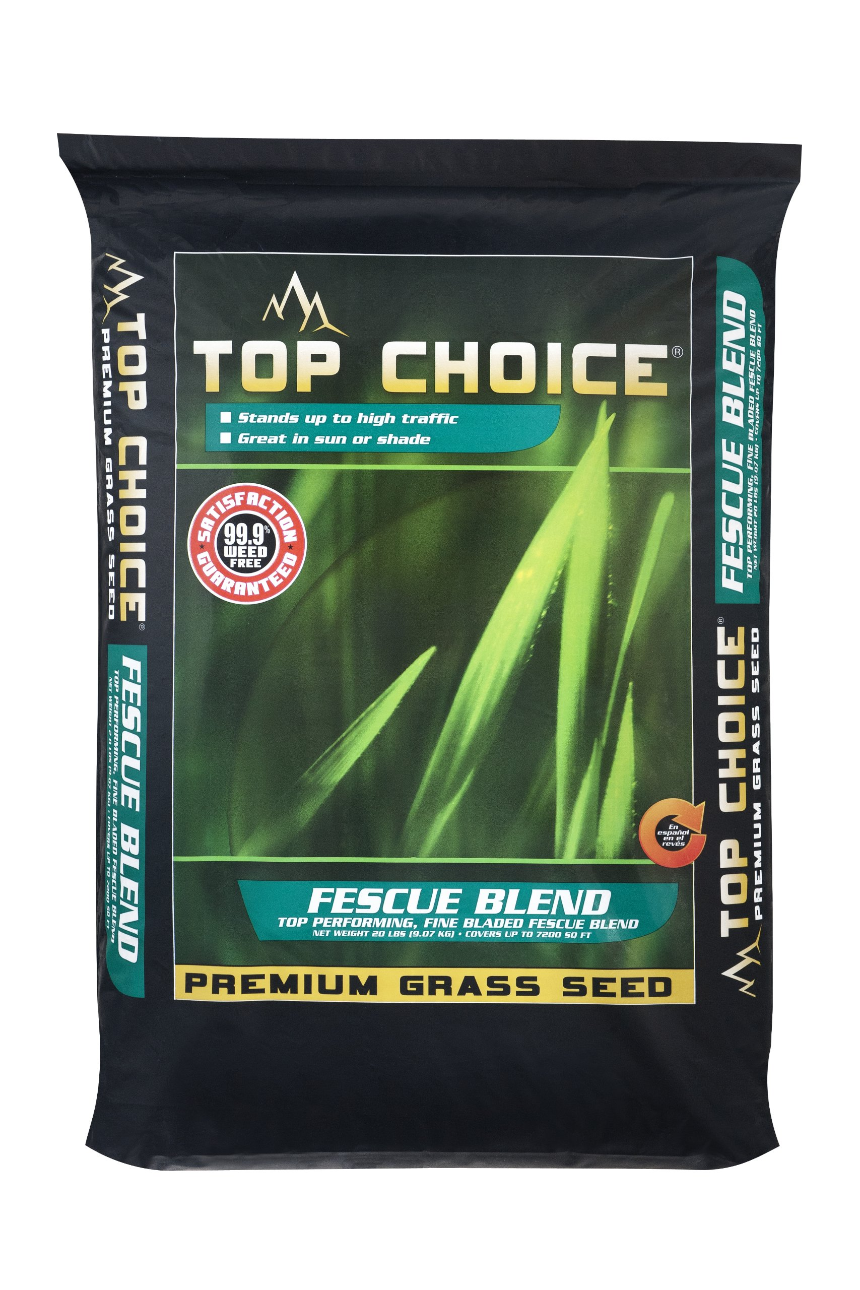 Top Choice 17631 Tall Fescue Grass Seed Mixture, 50-Pound