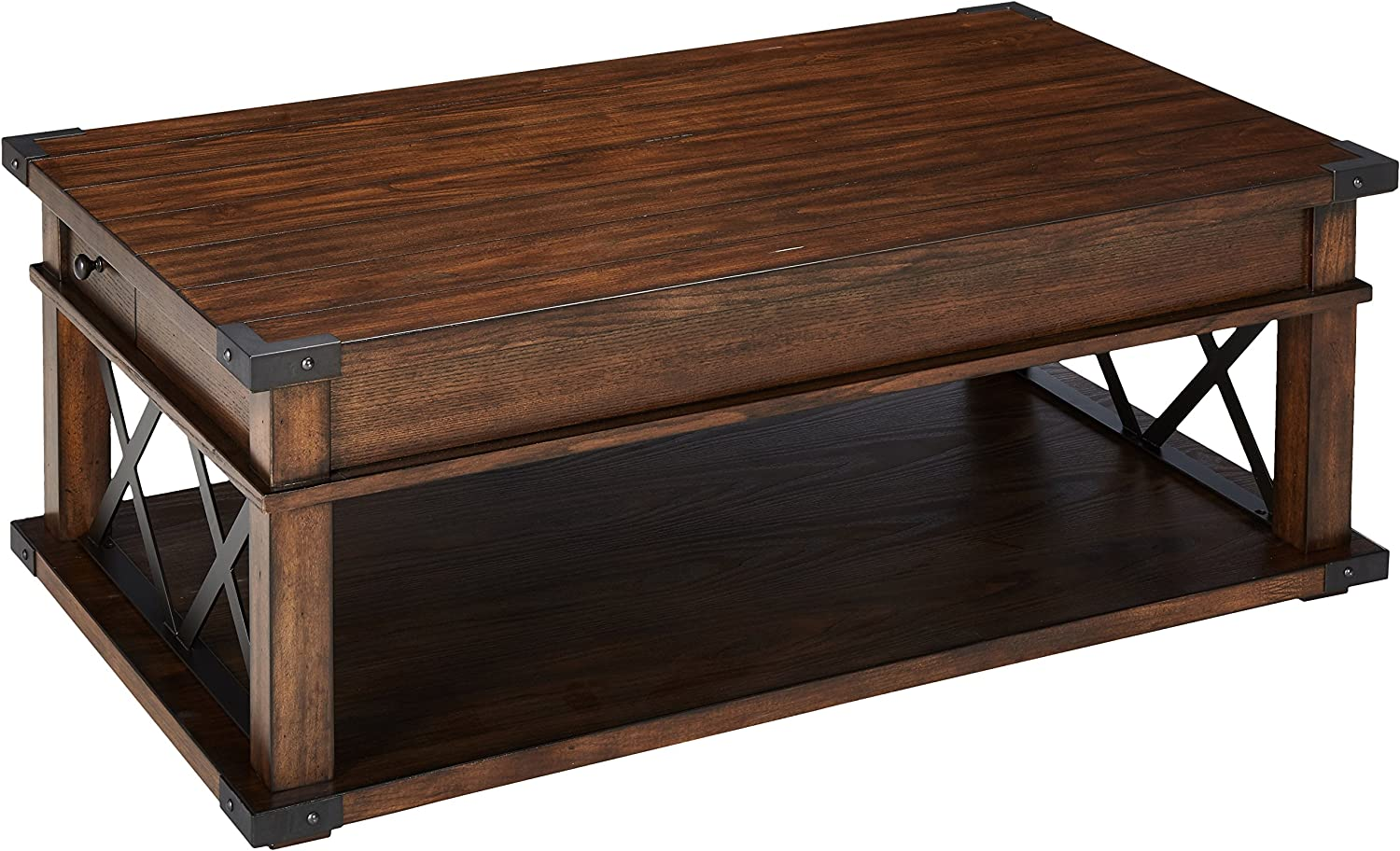Progressive Furniture Landmark Castered Cocktail Table, Vintage Ash