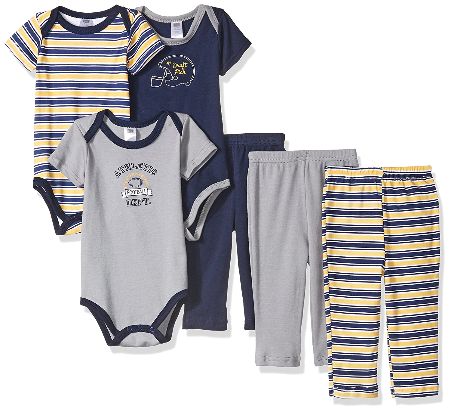 Amazon Hudson Baby Baby Grow With Me Box Set 6 Piece Football