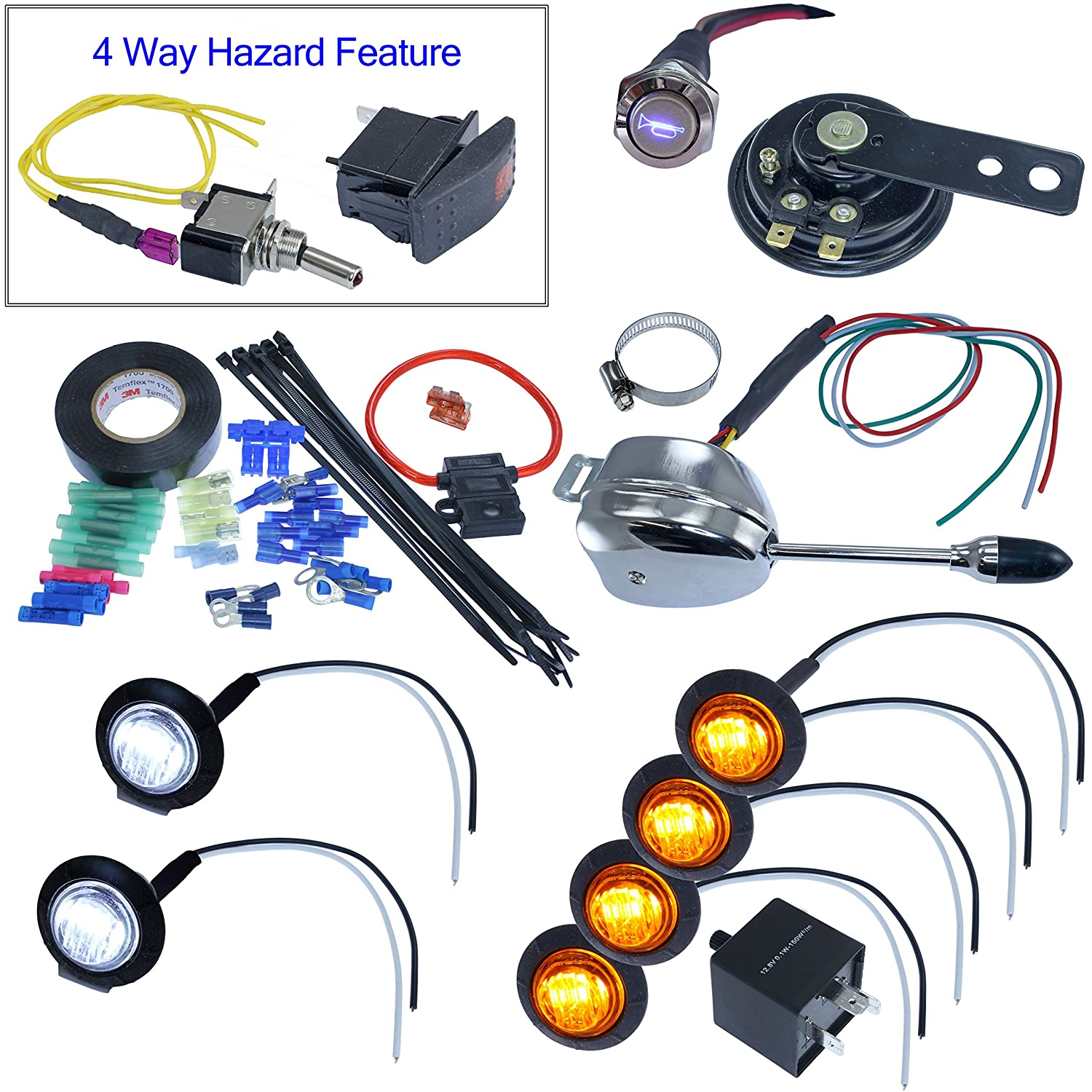 Amazon.com: Turn Signal Kits (Horn & Install Kit, Lever Switch): Automotive
