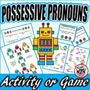 Possessive Pronoun Activity with Bonus Task Cards