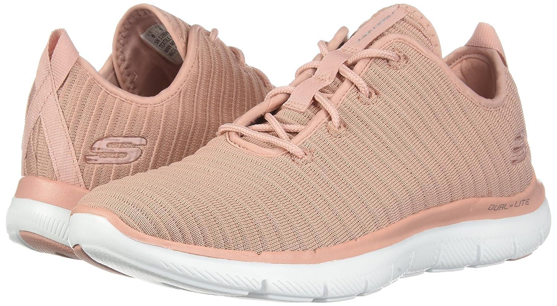 Skechers Damen Estates Sneaker Flex Appeal 2.0 Estates Damen Schwarz Rosa (Ros) e04790
