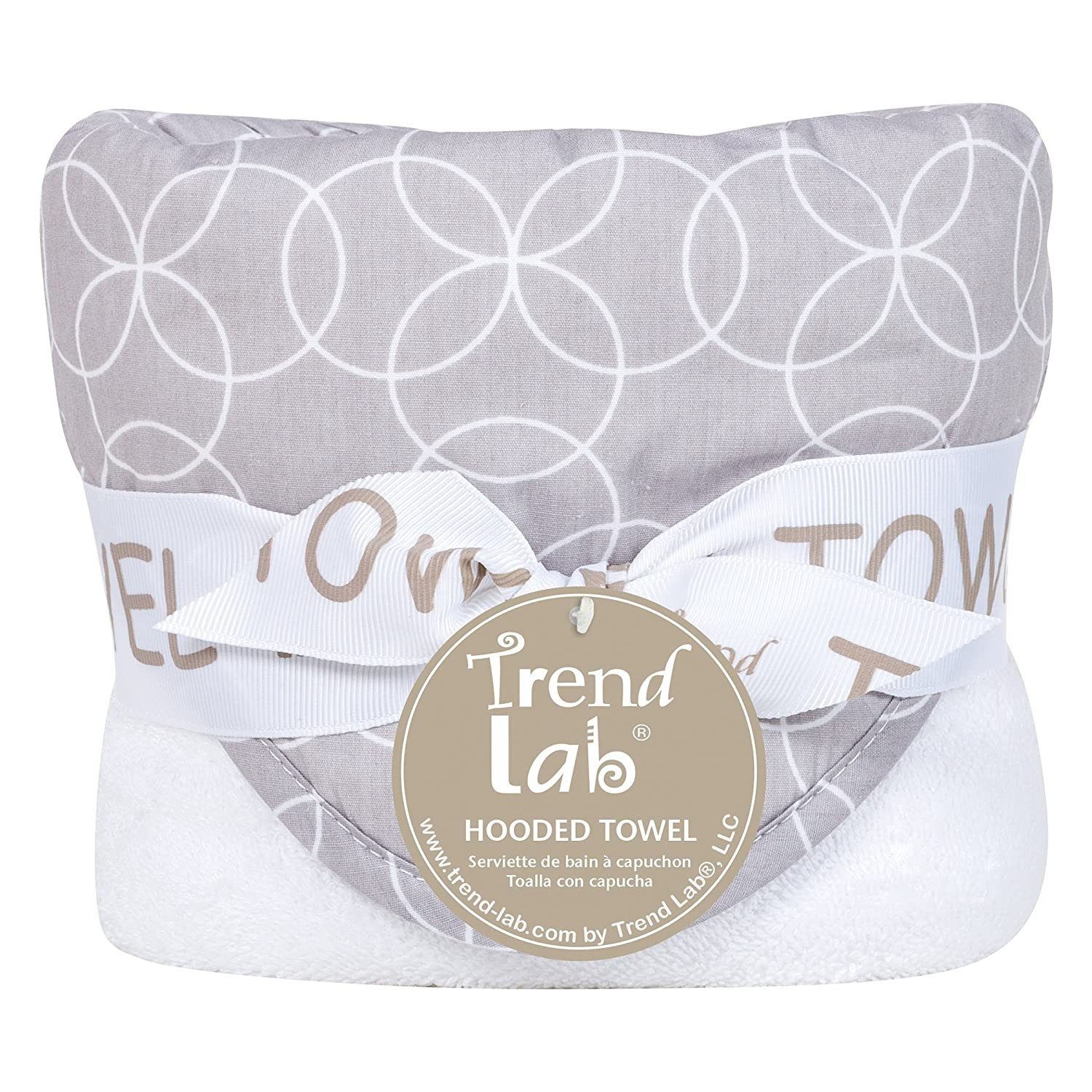 Amazon.com : Trend Lab Circles Hooded Towel, Gray/White, 3230-Inch : Baby