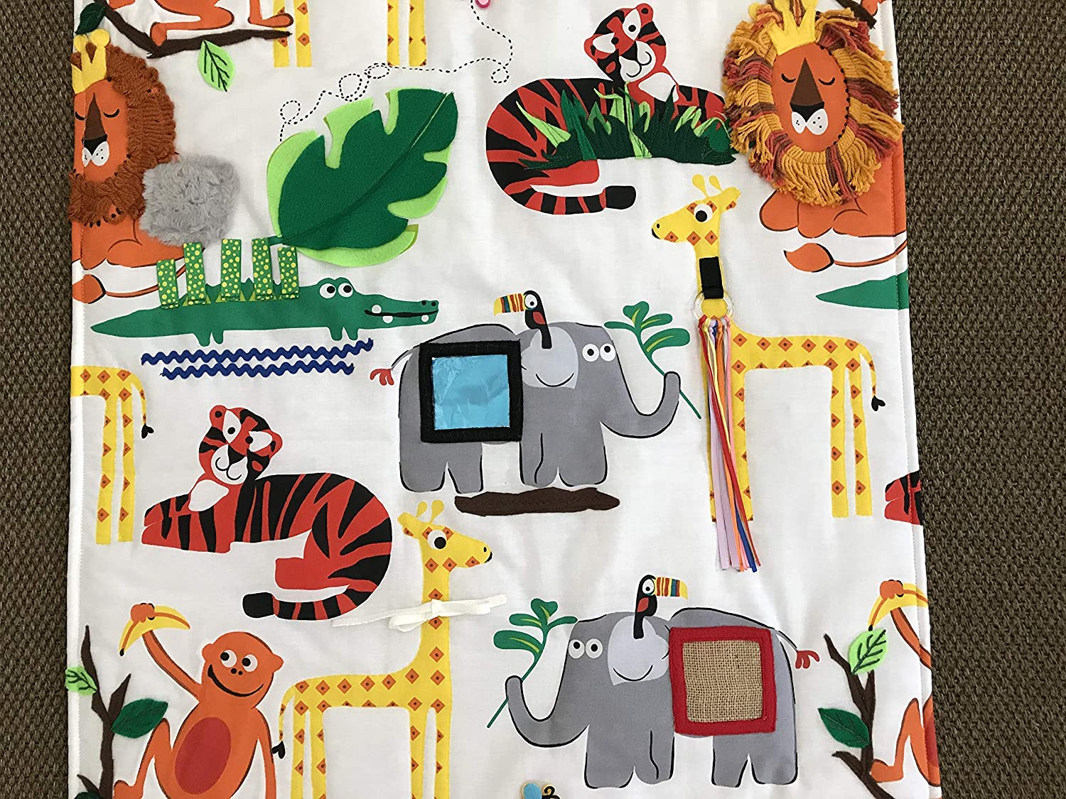 New parents gift Sensory Stimulation Mat SAFARI 2 Baby Gift