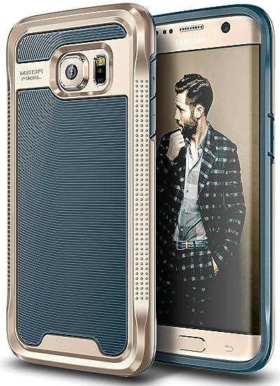 Galaxy S7 Edge Case, E LV Galaxy S7 Edge - Hybrid [Scratch/Dust Proof] Armor Defender Slim Shock-Absorption Bumper Case for Samsung Galaxy S7 Edge - ...