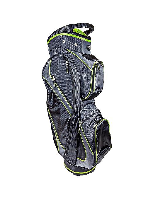 Club Champ Deluxe Carro Bolsa de Golf, JR1288, Negro/Verde ...