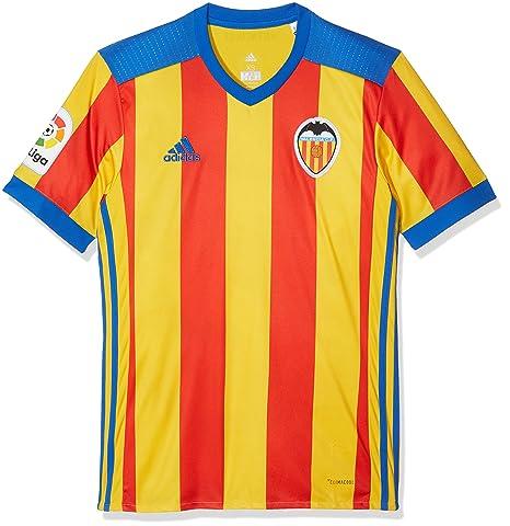 Adidas Vcf A JSY Camiseta Línea Valencia C.F, Hombre, (supama/Rojo/