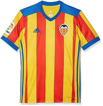 Adidas Vcf A JSY Camiseta 2ª Equipación Valencia CF 2017-2018, Hombre, Rojo
