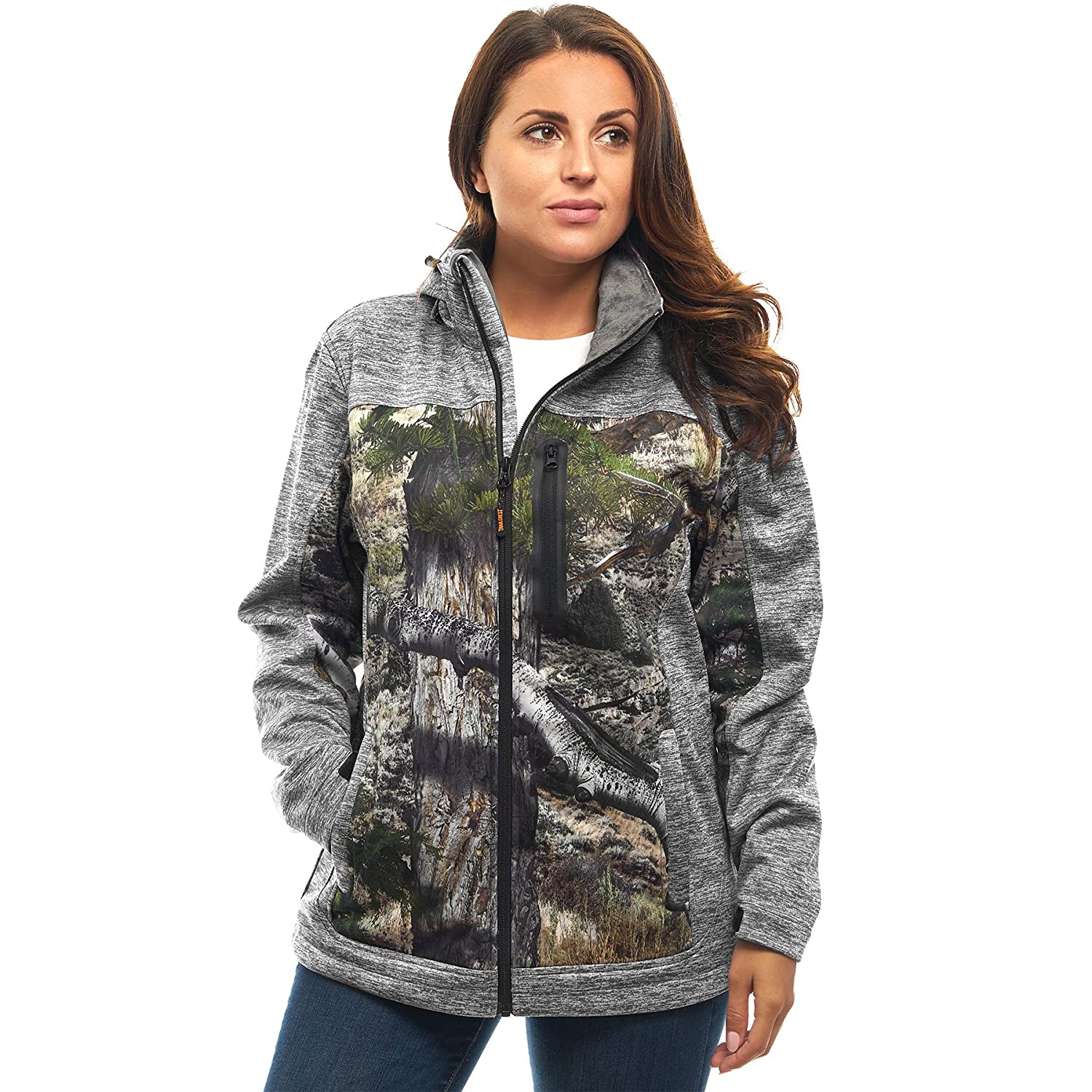 TrailCrest OUTERWEAR レディース B07497TPT5 XL|Grey Heather Mountain CountryTM Grey Heather Mountain CountryTM XL