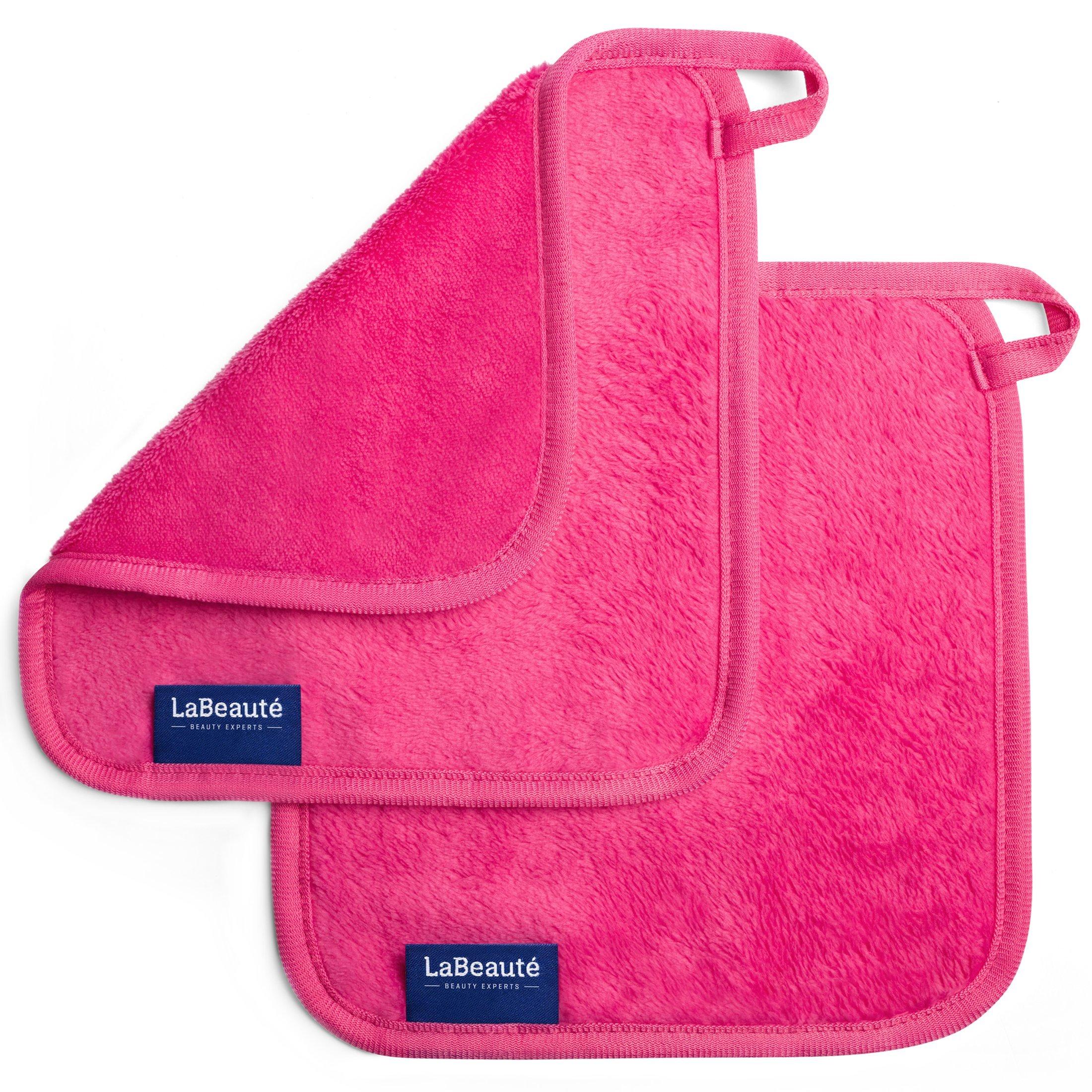 LaBeauté Toallitas Desmaquillantes (2 piezas) - toallitas limpiadoras y desmaquilladoras - Toalla de microfibra