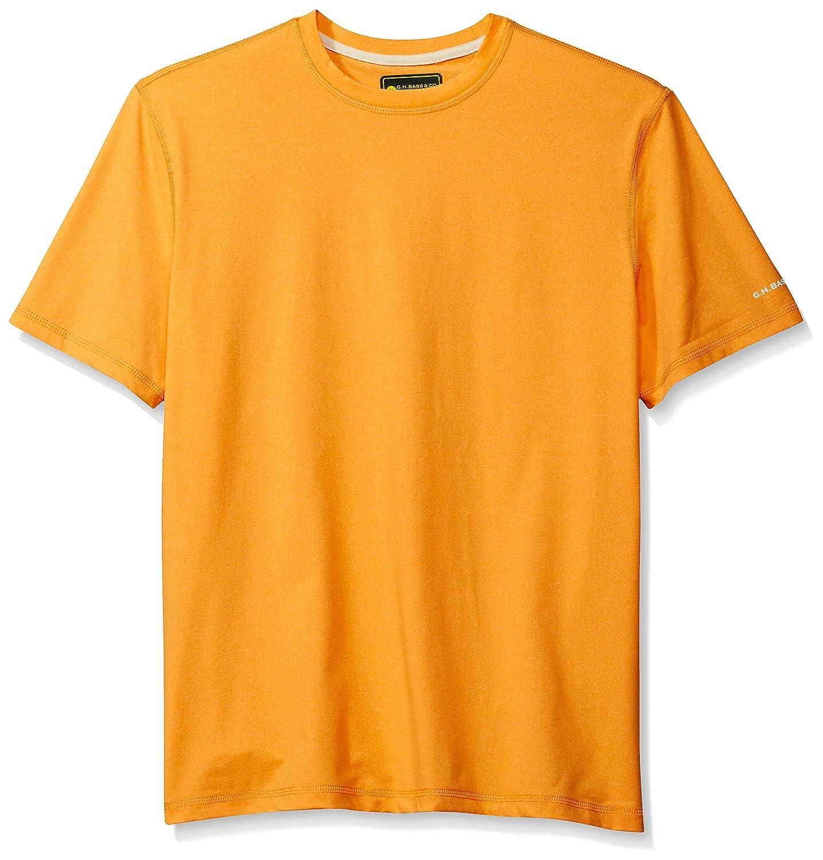 G.H Mens Explorer Performance Short Sleeve Crewneck Solid T-Shirt Bass /& Co