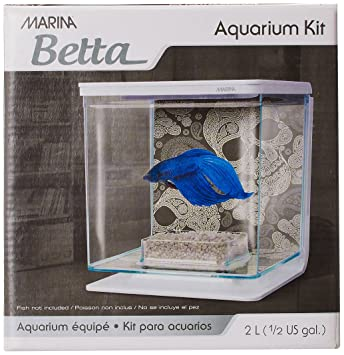 Marina Betta Aquarium Starter Kit, Skull