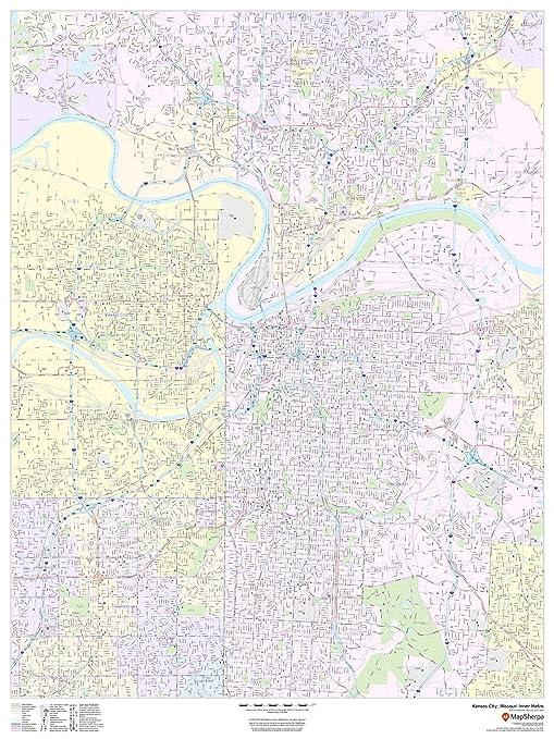 Amazon.com : Kansas City, Missouri Inner Metro - Portrait ...