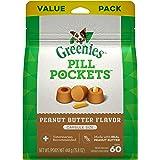 Greenies Pill Pockets Natural Dog Treats, Capsule Size, Peanut Butter Flavor