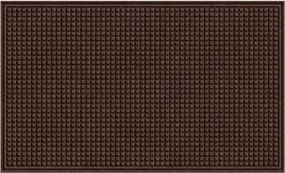 product image for Apache Mills Outdoor Mat Textures Squares, 3-Feet by 5-Feet, Walnut