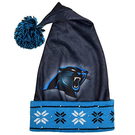 4b66a9205 Image Unavailable. Image not available for. Color  Carolina Panthers Light  Up Santa Hat