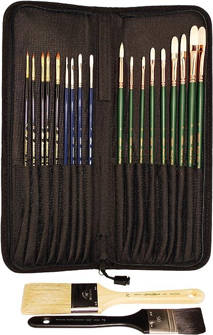 Silver Brush Long Handle Acrylic Painting Brush Size-1//2