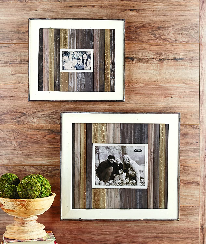 Amazon.de: Mud Pie 4695343 Holz Plank 3D Bilderrahmen 20, 3 x 25, 4 cm