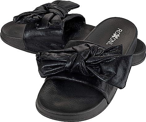 Roxoni Women's Bow Tie Slide Sandal