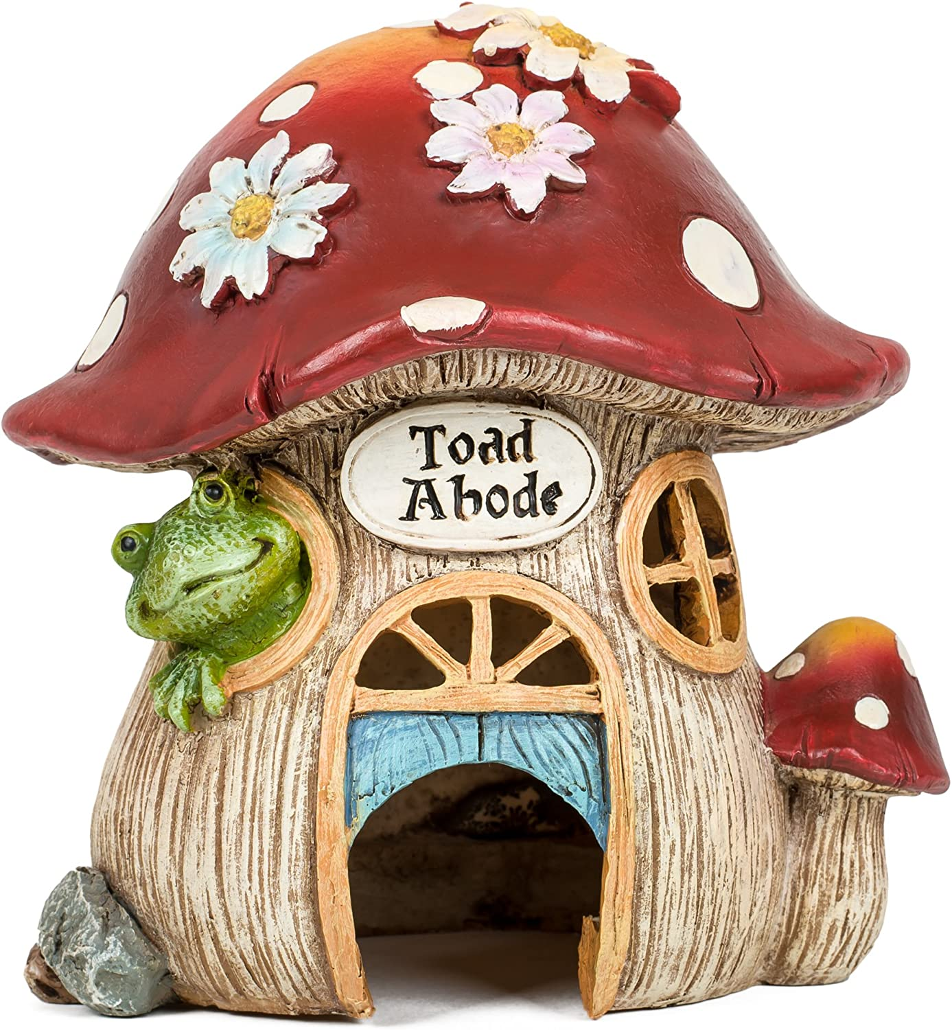 Joseph Studio 65905 Tall Decorative Mushroom Toad Abode Statue, 8-Inch