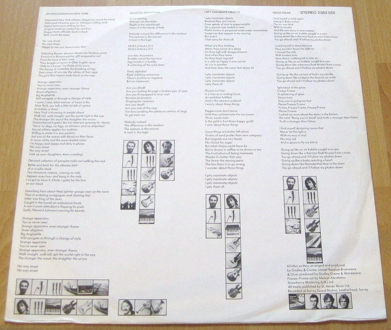 GODLEY & CREME - freeze frame LP - Amazon.com Music